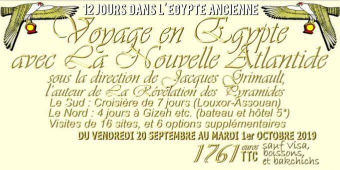 12 jours en Égypte avec Jacques Grimault Participez à un voyage initiatique et touristique d'exception !